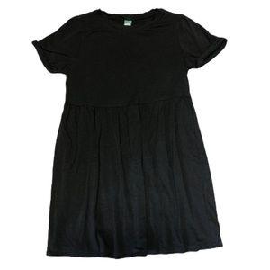 Black Babydoll T-Shirt Dress